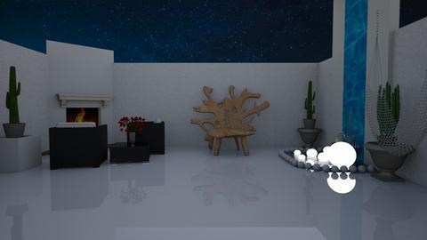 Patio at Night - by RhodriSimpson13