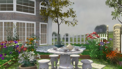 Tea at the backyard :) - Garden  - by Your well wisher