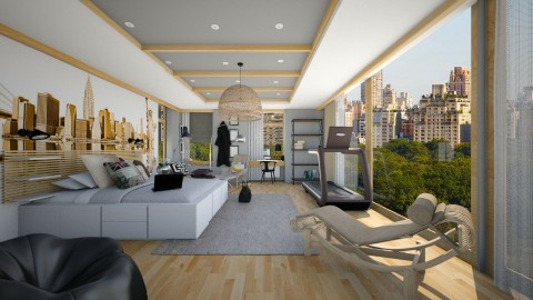new yorj boy - Modern - Bedroom  - by Evangeline_The_Unicorn