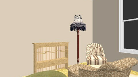 Lounge with sewing space - Vintage - Living room  - by dancingfeline