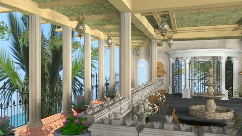 Roman Oasis - Classic - Hallway  - by Bibiche