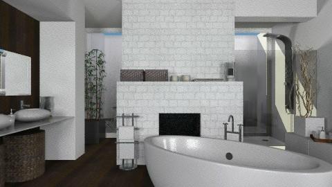 BrownBathroom - Modern - Bathroom  - by StienAerts
