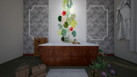 lilypad bathroom - Bathroom - by loisep1999