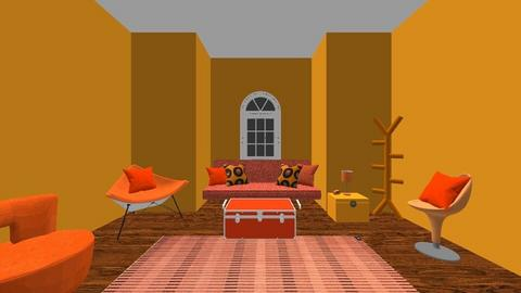 orange vibes - Retro - Living room  - by Itsavannah