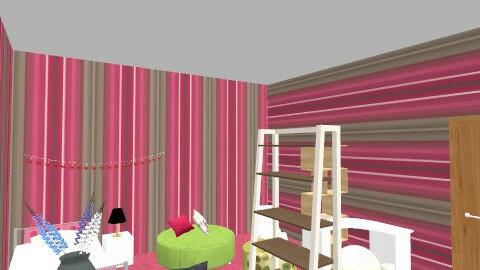 Frances Bedroom - Retro - Bedroom  - by Mangotangochick