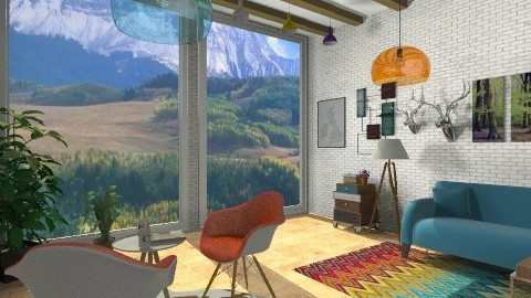 mountains little house - Eclectic - by EwaMW
