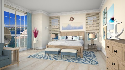 Harbor view Bed and Breakfast Hotel - Bedroom  - by talentaworks