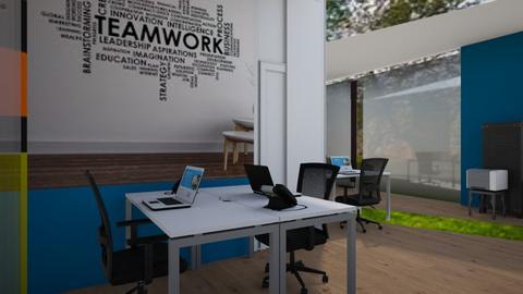Reception glass door seat - Office  - by Jeycie Designs