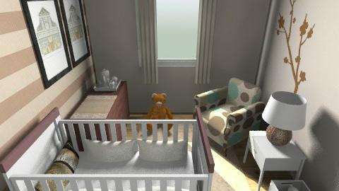 Brown Nursery - Kids room - by henrycambraia