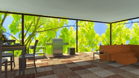 New patio - Modern - Garden  - by wiljun