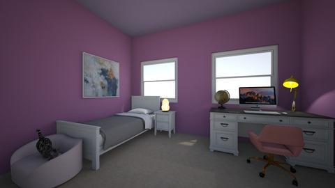 Teenage bedroom  - Bedroom  - by AkeishaNocon