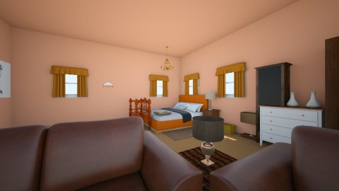 Peach Trees Bedroom - Modern - Bedroom - by Elf_prettyballetgirl16