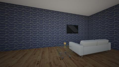Geometric Wallpaper - Living room - by Kalila Perkins