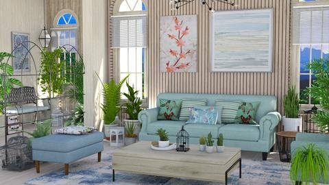 indoor plant room - Living room  - by Moonpearl
