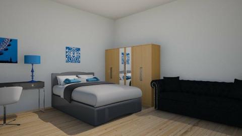 Blue and black - Bedroom - by ellielou02