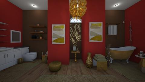 Golden Bath - Glamour - Bathroom  - by Irishrose58
