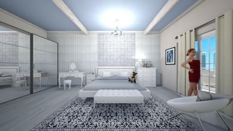 white room - Bedroom - by InaasAzizah