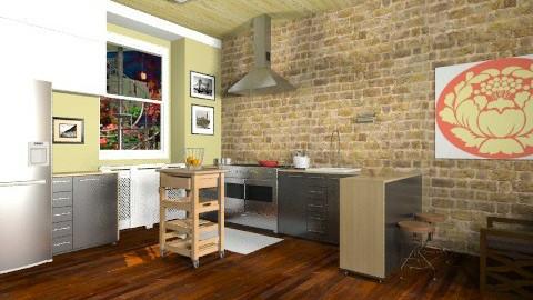 Montreal Condo Kitchen - Eclectic - Kitchen  - by Yoshi Yogataga
