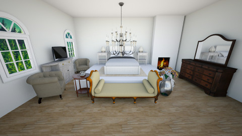 The Real Bedroom - Glamour - Bedroom - by FlorenciaaC