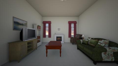 Vintage City Apartment - Living room  - by WestVirginiaRebel