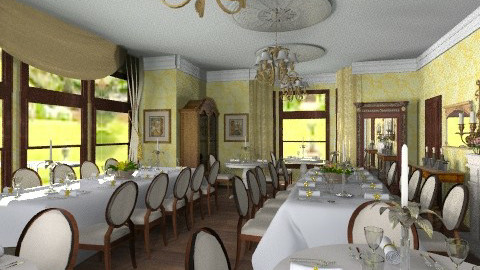 Castle dining room 2 - Classic - Dining room - by auntiehelen