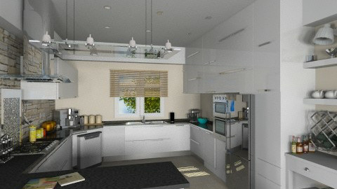 Modern White - Modern - Kitchen  - by Bibiche