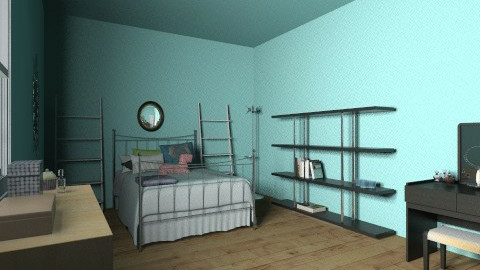 Blue Bedroom - Glamour - Bedroom - by alex101Friend
