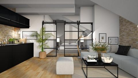 Sloping Ceiling - Living room  - by BubbleSloth