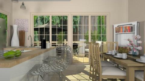 Kitchen and Deck - Classic - Kitchen  - by cheyjordan