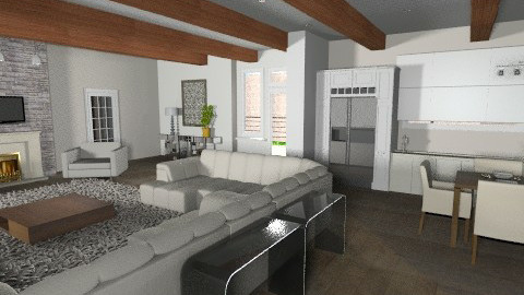 Villa Modern Rustic - Eclectic - Living room  - by APInteriors