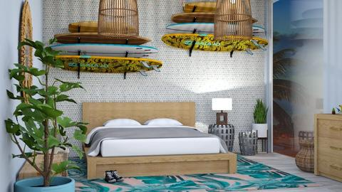 60s surf - Retro - Bedroom - by Mayra  Mello
