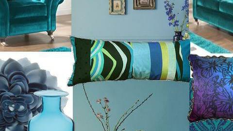 Blue - Modern - Living room - by fluffybear