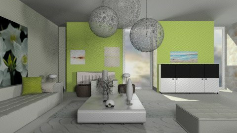lime living room - Eclectic - Living room  - by Designerloft