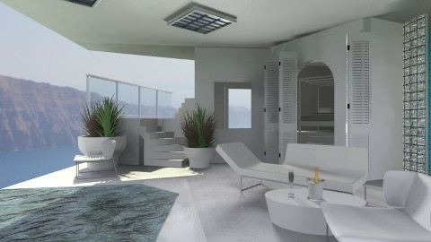 Clinical Greek terrace - Minimal - Garden  - by deleted_1520806422_Roxy