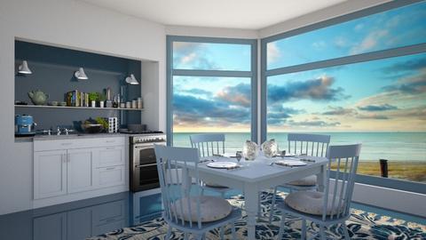 ocean kitchen - Kitchen  - by daydreamer84