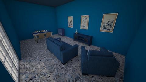living room blue - Living room  - by inosakow