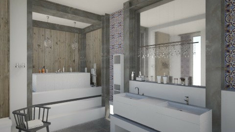 CottageBathroom - Rustic - Bathroom  - by Varia