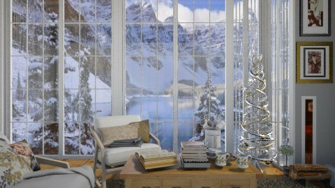 Cozy chirstmas reading - Living room  - by AnnaMull
