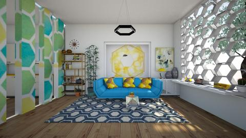 Beehouse inspired - Living room  - by bluedolphin12
