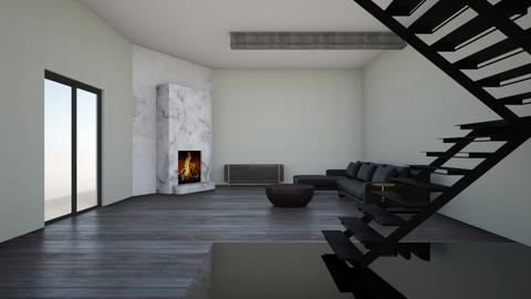 Dark wood - Modern - Living room  - by rcrites457
