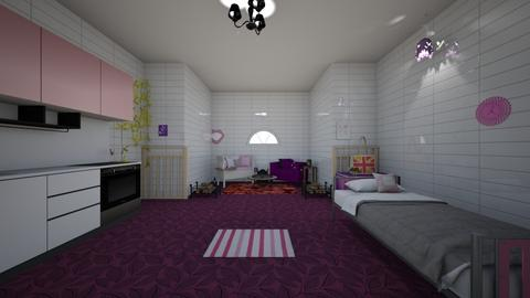 purple and pink classy - Bedroom  - by noadesign