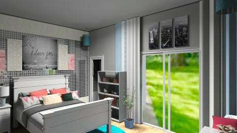 future bedroom - Feminine - Bedroom - by Lizette Najera