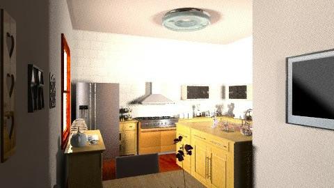 cozinha e copa orange - Eclectic - by kellassuncao
