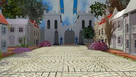 To the Castle - Rustic - Garden  - by Bibiche