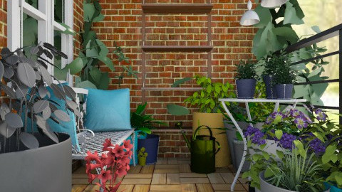Balcony Set - Country - Garden - by psychette7