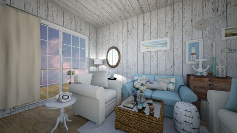 Beach Living room - Living room - by Purple Lemons