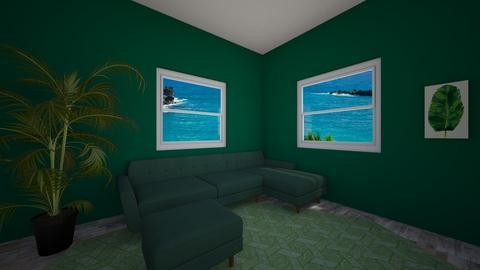 Green Monochrome - Living room  - by kyannahalmrast