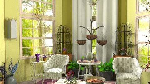 Sun Room Test - Rustic - Garden  - by DesignBanshee