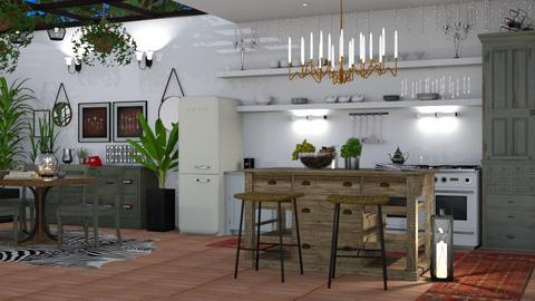 eclectic kitchen_2 - Kitchen  - by BugsBunny24