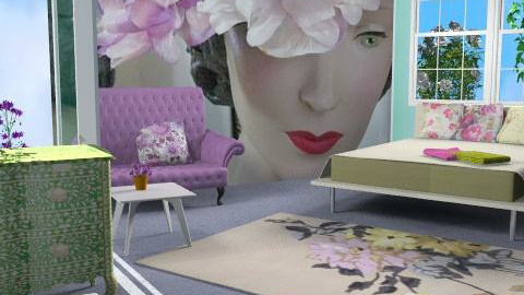Fifties Flow. - Retro - Living room  - by Interiors by Elaine
